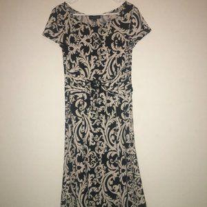Perceptions Women's Size 12 Black and Ivory Dress